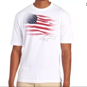 Greg Norman Collection Shirts - GREG NORMAN Americana Flag Tee-Large